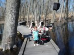 75 degrees, so we were off to the nature preserve